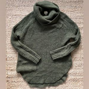 A New Day Olive Tunic Cowl Sweater